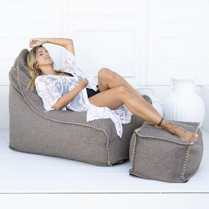 Vintage Chair & Ottoman Bean Bag   Mooi Living