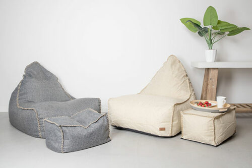 Vintage Chair Ottoman set | Mooi Living