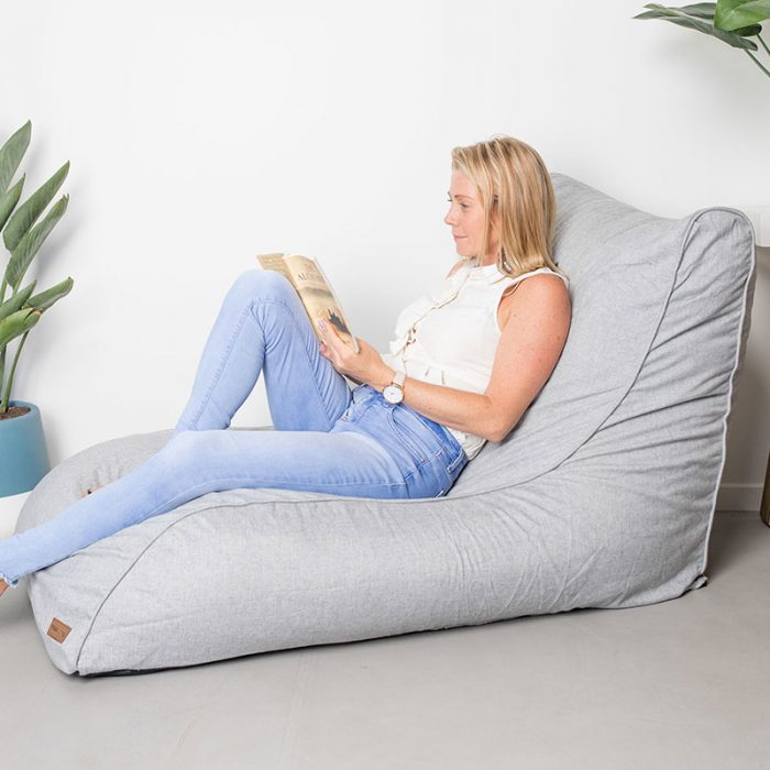 Day Bed Bean Bag Lounger | Grey | Mooi Living