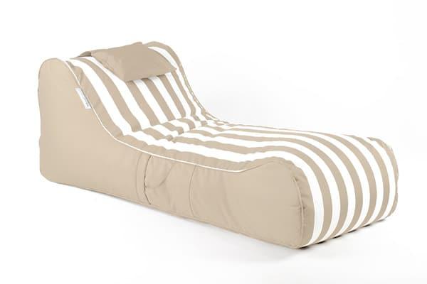 Cojela Sauve Sunlounger | Beige & White Striped | Mooi Living