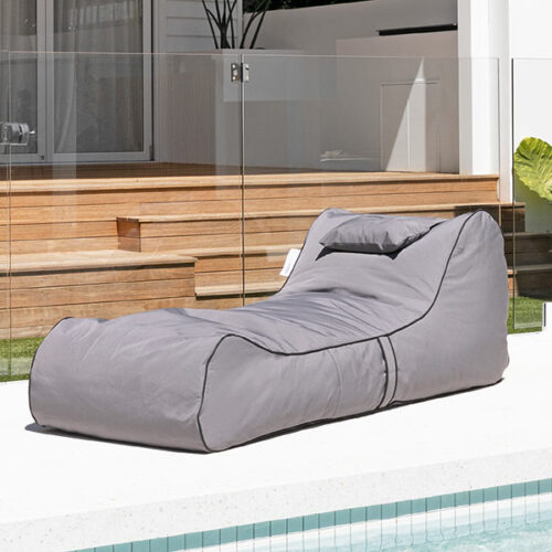 Cojelo Suave Bean Bag Sunlounger - Dark Grey