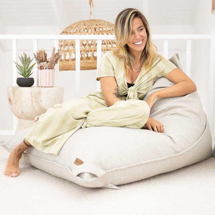 Komfort Triangle Bean Bags   Natural   Mooi Living