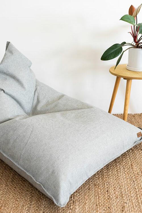 Komfort Triangle Bean Bag   Grey   Mooi Living