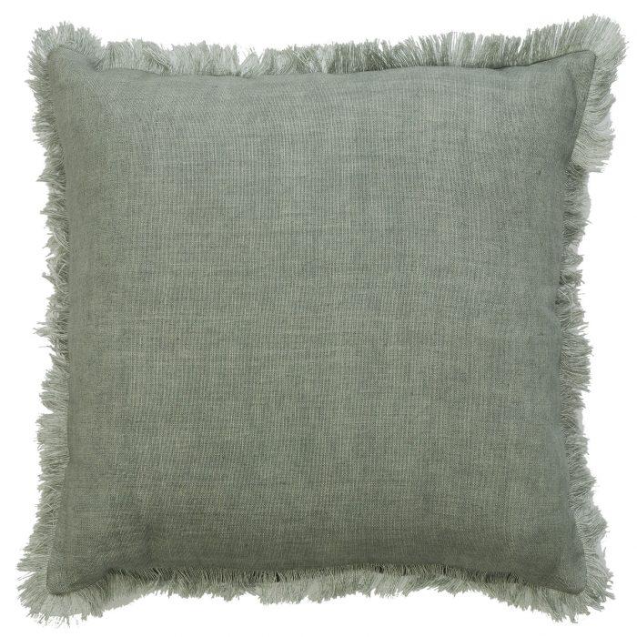 Classic Indira Minty Fringe Cushion