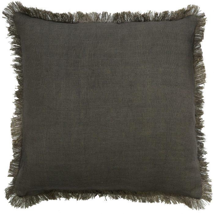Classic Capella Fringe Cushion Stone