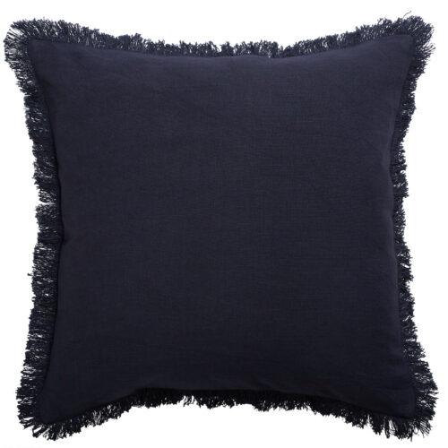 Classic Monaco Fringe Cushion Slate