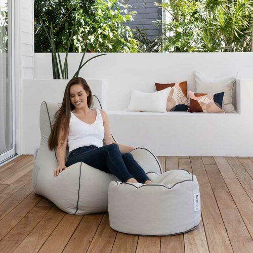 Bora Bora Bean Bag Chair | Linen Grey | Mooi Living