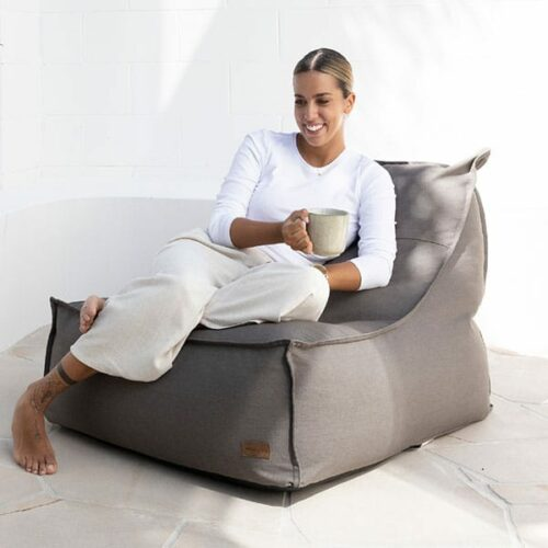 Boss Bean Bag | Washed Canvas mocha | Mooi Living