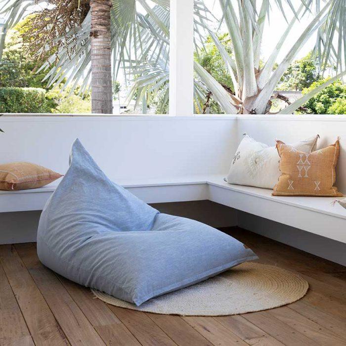 Coastal Triangle Bean Bag | Mooi Living