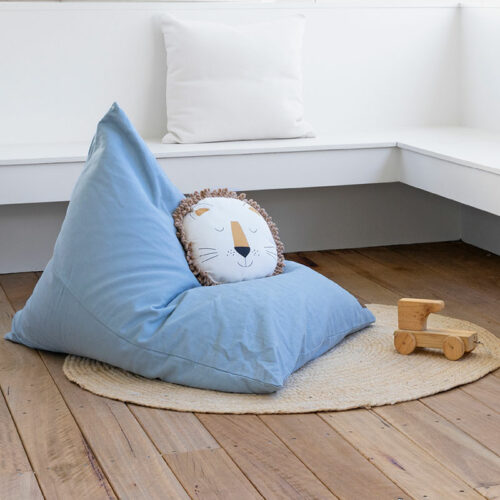 Kids Mini Triangle Bean Bag - Blue
