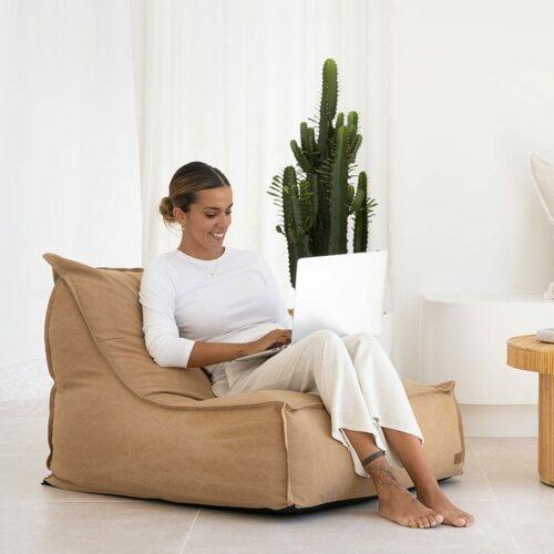 Boss Bean Bag Sofa | Tan | Mooi Living