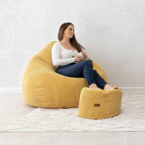 Sung Bean Bag | Corduroy | Mustard | Mooi Living