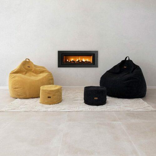 Sung Bean Bag | Corduroy | Mustard & Black | Mooi Living
