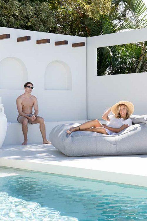 Navaeh Sunproof Sunlounge | Grey | Mooi Living